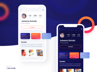 Daily UI Day 006 – User Profile