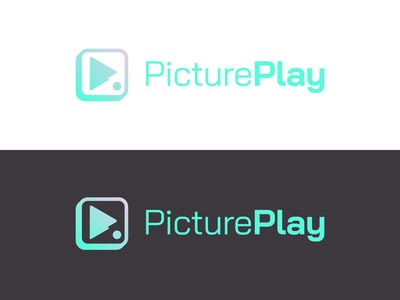 PicturPlay (Logo Design) mark illustration digital colour art monogram icon branding symbol logo design graphic