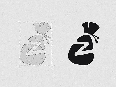 ZAMBALA (Logo Construction) z zambala money transfer finance app logo construction illustration digital colour art monogram icon branding symbol logo design graphic