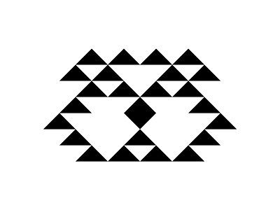 Geometric Dog graphic design dog geometric design geometric art digital colour art monogram icon branding symbol logo design graphic