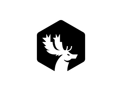 Fallow Deer wild fallow deer animal icon animal logo illustration digital colour art monogram icon branding symbol logo design graphic