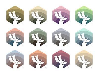 Fallow Deer deer logo animal icon animal illustration digital colour art icon branding symbol logo design graphic