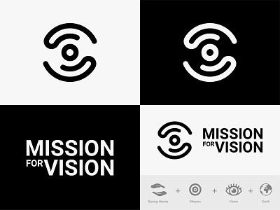 Mission for vision (Logo Designs) vision logo eye care mark illustration digital art monogram icon branding design symbol logo graphic