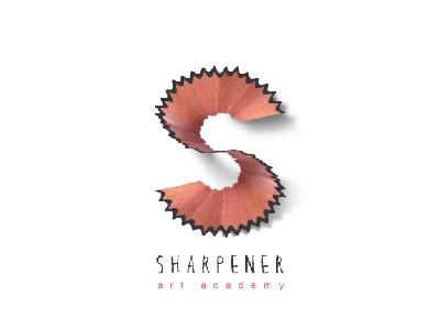Sharpener Art Academy ( Logo Design ) monogram creative painting drawing pencil sharpener art graphic logo