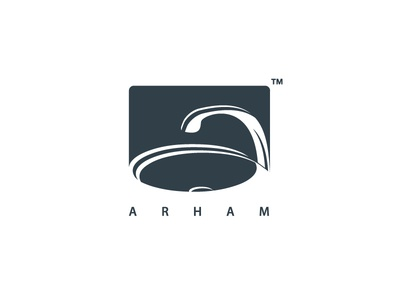 Arham Logo basin creative minimal typography branding art symbol monogram logo design graphic