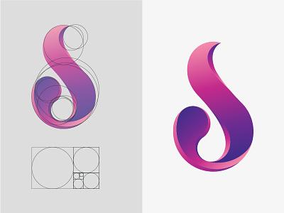 D+S Monogram construction (Golden Ration) colours colour ration golden construction symbol icon branding monogram logo design graphic