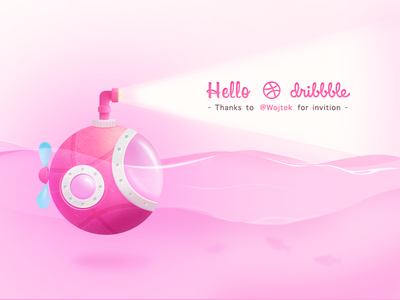 Hello Dribbble From Auv submarine desgin shot first debut