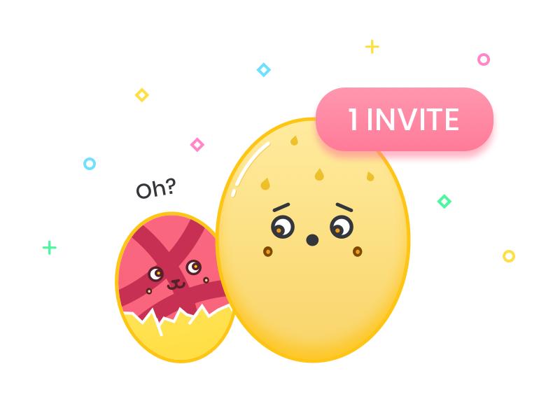1 Dribbble Invite icon vector illustration invite invitation giveaway dribbble color