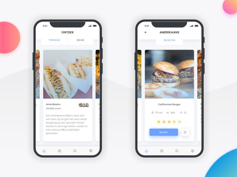 BBQ App bbq cook ux ui mobile iphonex design branding app