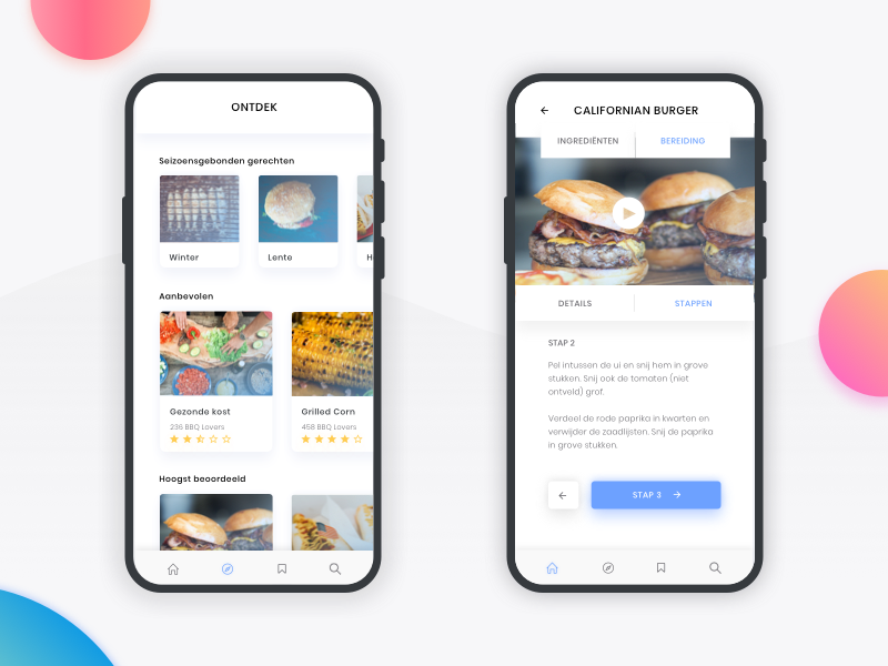BBQ App app branding design iphonex mobile ui ux cook bbq