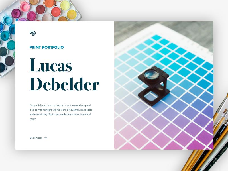 Print Portfolio web ux ui typography minimalistic logo branding design minimalism clean portfolio print