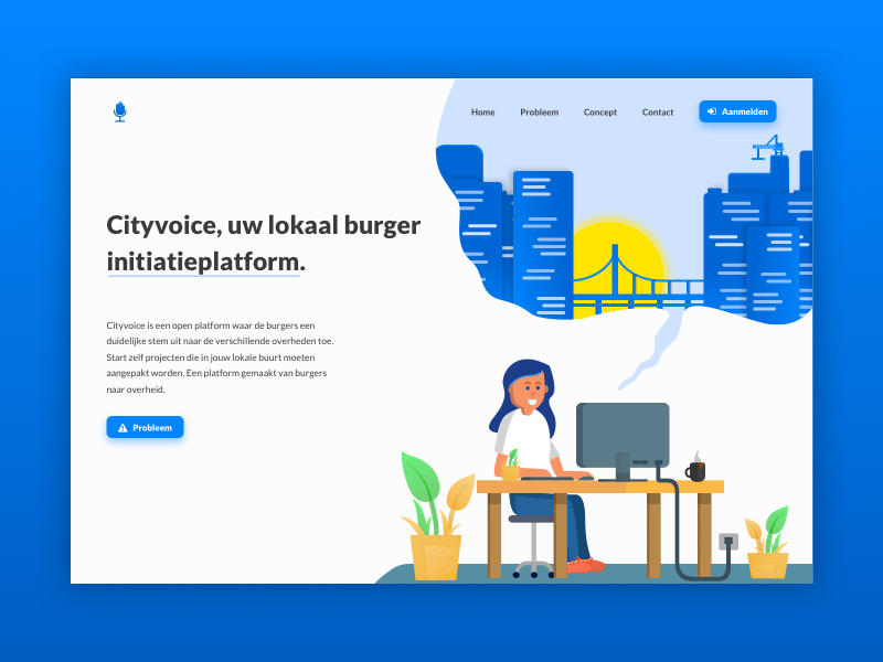 Cityvoice. graphic vector design ux ui website homepage landing page illustration
