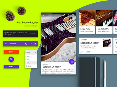 Music Store App 🎼 ux ui interface android mobile app mobile app