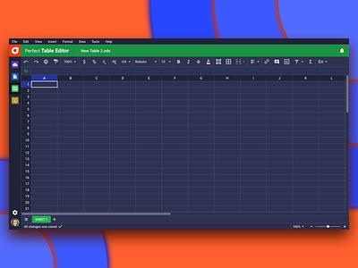 Perfect Table Editor / Dark Version dark ui dark web ux ui psproject interface app