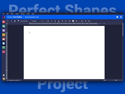 Perfect Text Editor 📝 Dark Version 🌚 dark dark ui typography icon vector illustration branding design sketch brand logo web interface ux ui psproject app