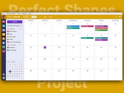 Perfect Calendar 📅 branding vector typography illustration icon sketch design brand logo web interface ux ui psproject app