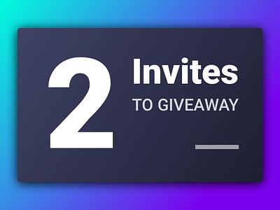 Dribbble Invites 🍩🍩 design invites giveaway dribbble invites invite