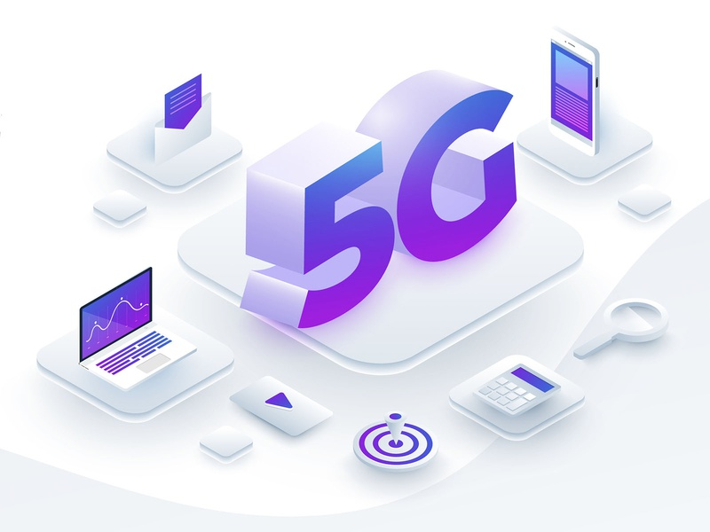 5G Tech. design 5g vector isometric illustration
