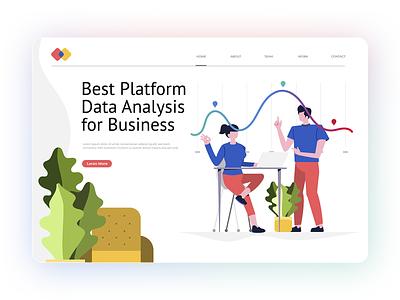Data Analyze Platform. webdesign analyze