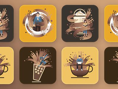Take Awake with Coffee color coffee illustration