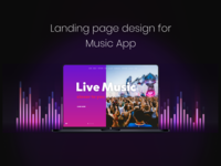 Landing page for Music App