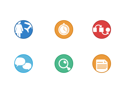 Flat Icons documents icons icon flat simple white circle