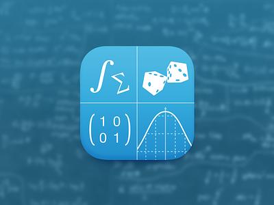 Univer App Icon app icon math dice formula graph