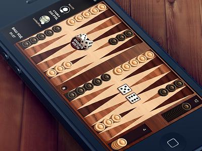 Backgammon Game backgammon game ios iphone dice wood