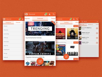 Qwyrk android app orange music tabs categories