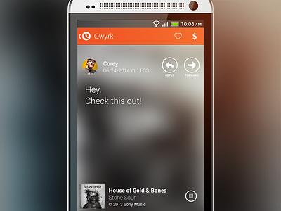Qwyrk Message android app orange music message