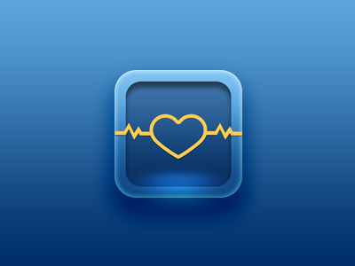 Icon for medical app heart app icon ios medical