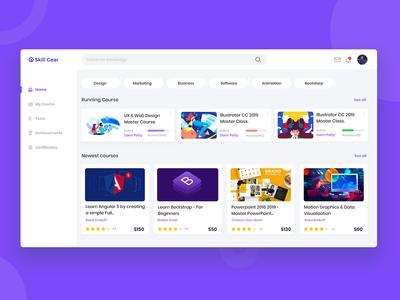 Online Learning Platform Landing Page.