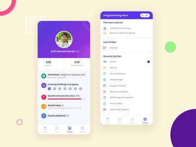 Profile & Settings UI - Programming Hero App