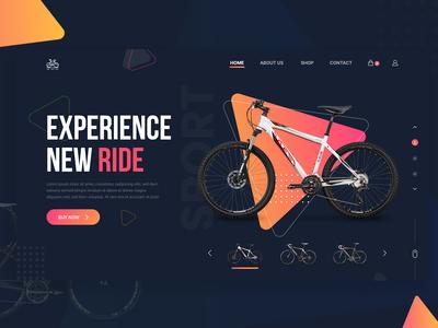 Bicycle Store - Web Header Dark Theme