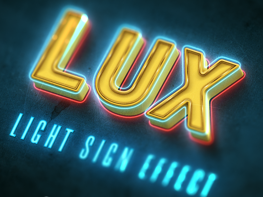 LIGHT SIGN FREE TEXT EFFECT by state seven on Dribbble