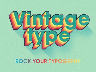 Colorful Vintage Typography