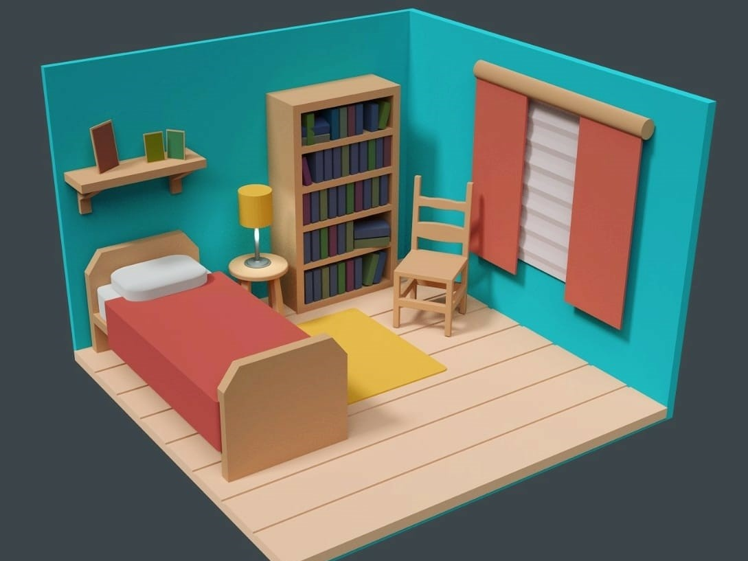 Small World Slaapkamer.3d Bedroom By Debora Wolffenbuttel Dribbble Dribbble