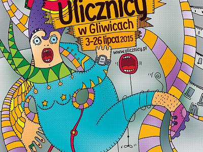 """Ulicznicy"", poster  ilustracja illustration"