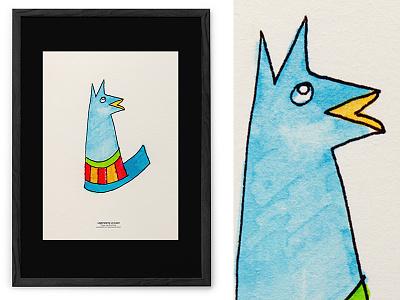 Legendary Lis Lisov / illustration poster animal yellow blue stripes typohole character design draw illustration fox lis