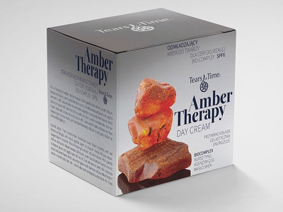 Packaging design. Amber Therapy Night/Day Cream.  Shot#2 spf sunprotect bursztyn gold krem amber cream beauty opakowanie packaging