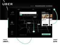 Uber operating system •• Passenger's screen
