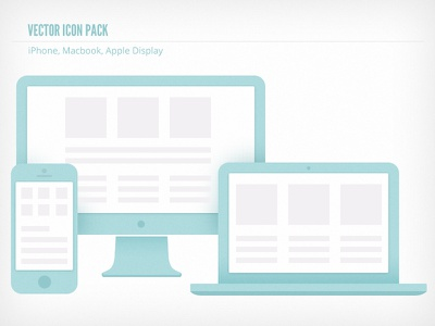 Fun, Free Icons icon flat vector blue macbook iphone
