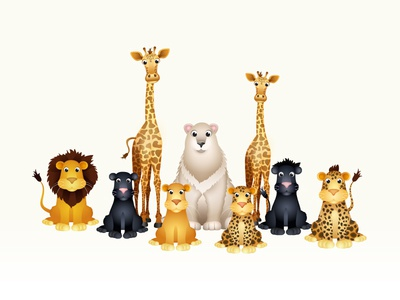 Zoo Animals ios mobile game fun cute characters gradients