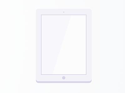 Ipad Icon - Exploration ipad icon purple blue flat stylized tablet