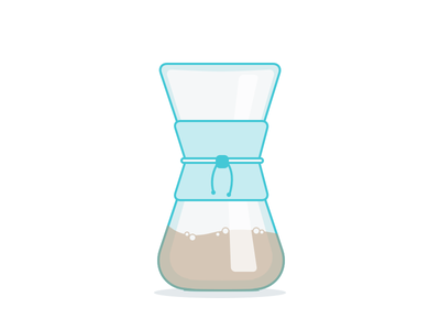 Chemex Icon coffee icon chemex flat teal glass