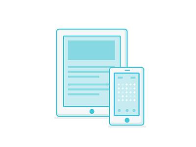 iPad and iPhone icon flat teal fun cute iphone ipad games