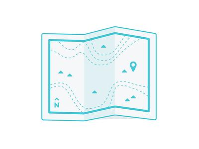Map Icon icon beer green flat fun cute map hiking