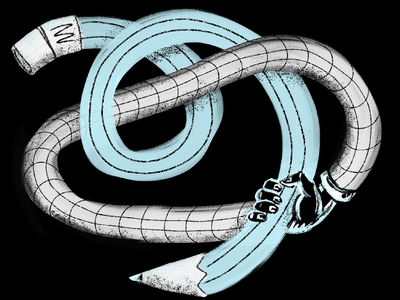 Hand-drawn hand designer artist new modern portal grid stipple texture procreate fresco experimental bendy warped pencil hand drawn drawing branding illustration design