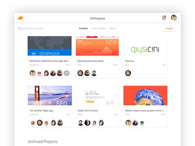 Zeplin's All Projects Screen tools plugin zeplin app web projects ux ui grid