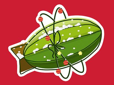 Zeplin Christmas logo illustration sticker christmas zeplin